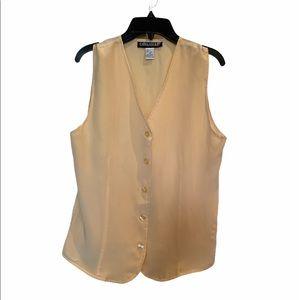 Savannah women's 100% silk vest size M